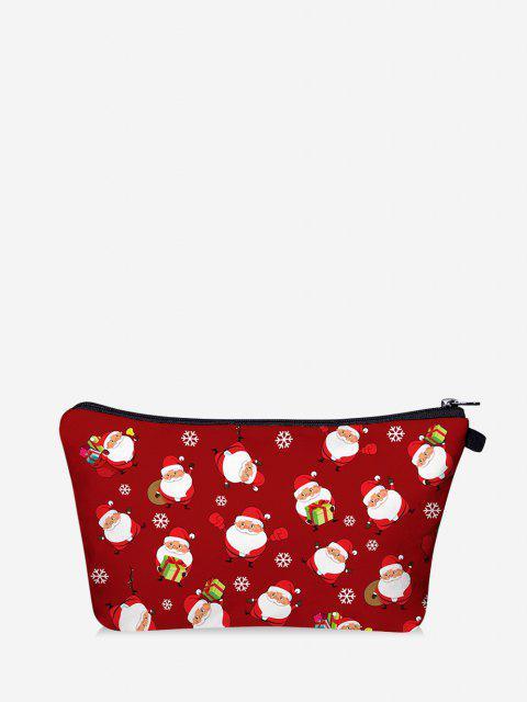 Bolsa de Maquiagem de Natal com Impressão de Santa - Vermelho  Mobile
