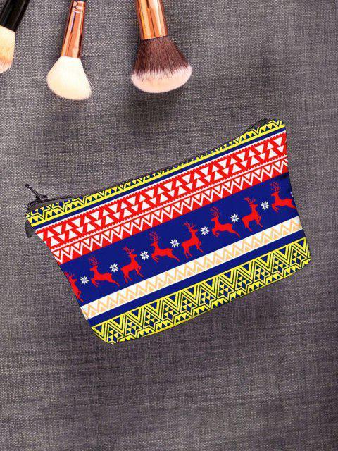 outfits Christmas Elk Geo Print Makeup Bag - NAVY BLUE  Mobile