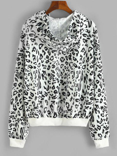 Leopard News Graphic Hoodie - أسود L Mobile
