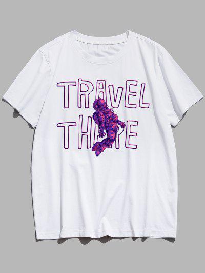 T-shirtGraphiqueMotifd'Astronaute - Blanc Xs