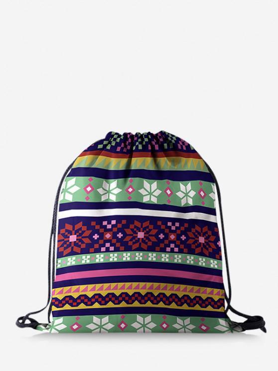 Weihnachtsschneeflocke Druck Basic Tasche - Multi