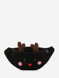 Sac à Bandoulière Cerf De Noël Dessin Animé - Noir