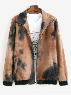 Tie Dye Fleece Jacket - Coffee Xl