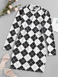 ZAFUL Plaid Houndstooth Bodycon Mini Dress - Multi-a S