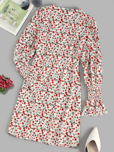 Vestido curto com impresso floral - Multi M Mobile