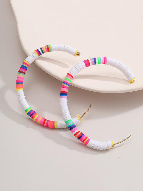 lady Bohemian Soft Ceramic C Shape Earrings - MULTI-A  Mobile