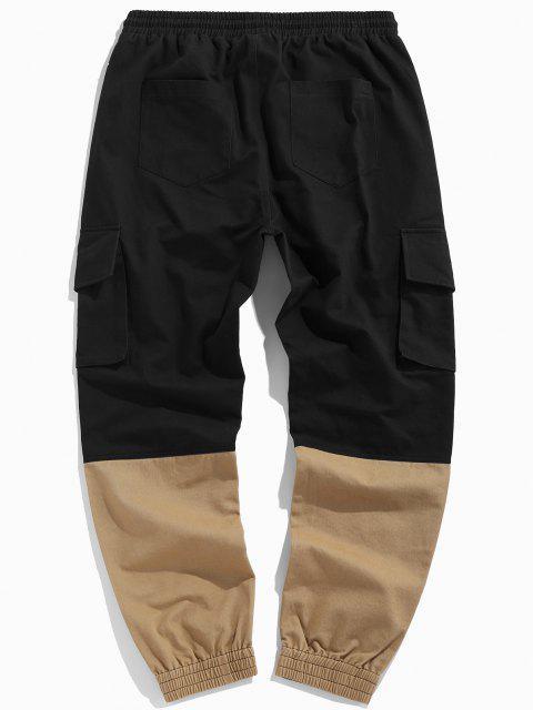 ZAFUL Pantalones de Carga con Bordado de Letras y de Color Bloque - Multicolor L Mobile