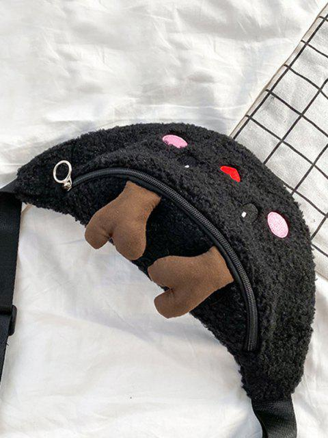 Bolsa de Pecho de Alces de Navidad - Negro  Mobile