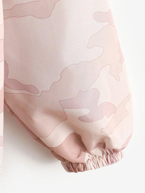 Reißverschluss Kapuze Camouflage Windjacke - Rosa M Mobile