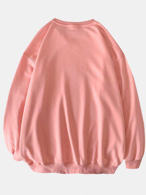 Sweat-shirtFleurMargueriteImpriméeàColRond - Rose  2XL Mobile