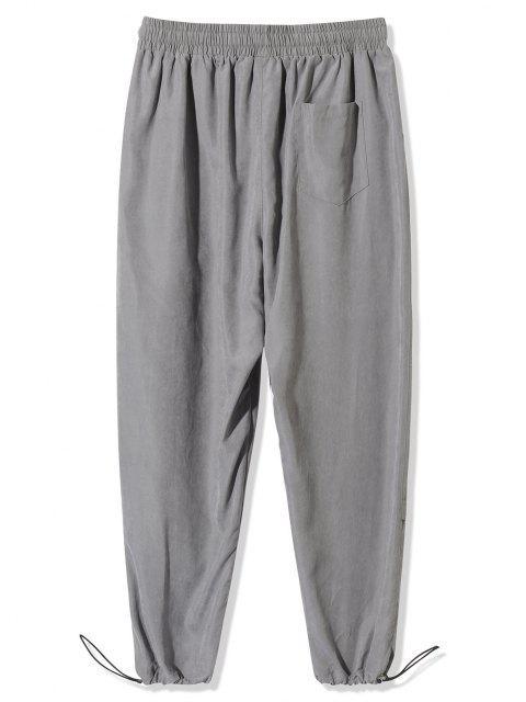 Pantalones Estampado Letras Tobillas Cordón Ajustable - Gris 3XL Mobile