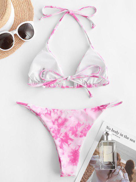 Bikini de Tie Dye - Rosa Brillante L Mobile