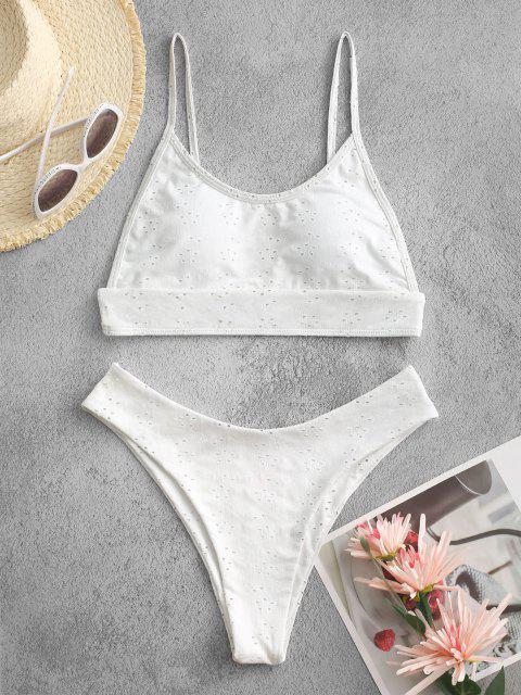 ZAFUL Hälfte Zugeknöpfter Stein Piece und Passen Sie Ihre Verschiedenen Kleider - Weiß S Mobile