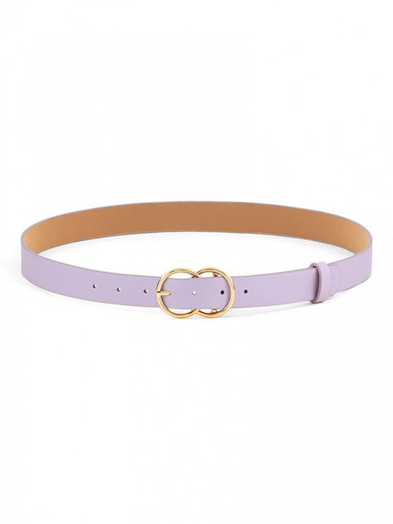 fancy Double Circles Pin Buckle Belt - MAUVE