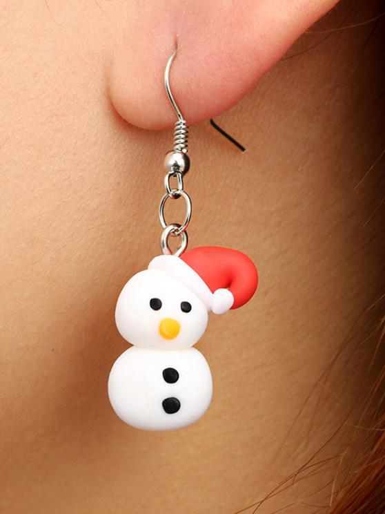 new Christmas Snowman Polymer Clay Earrings - SILVER
