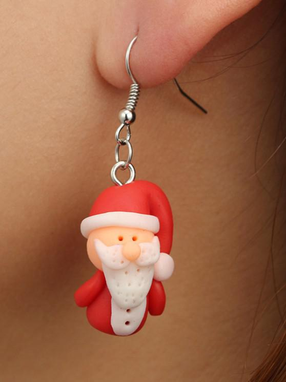 outfit Christmas Santa Claus Drop Earrings - RED WINE