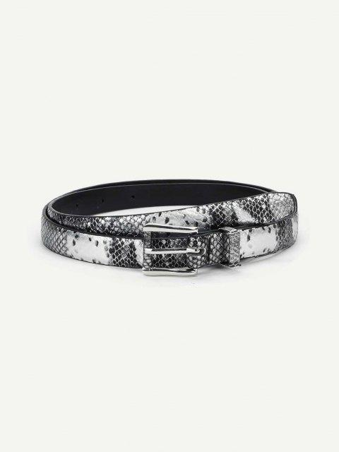 fashion Snakeskin Pattern Thin Buckle Belt - MULTI-A  Mobile