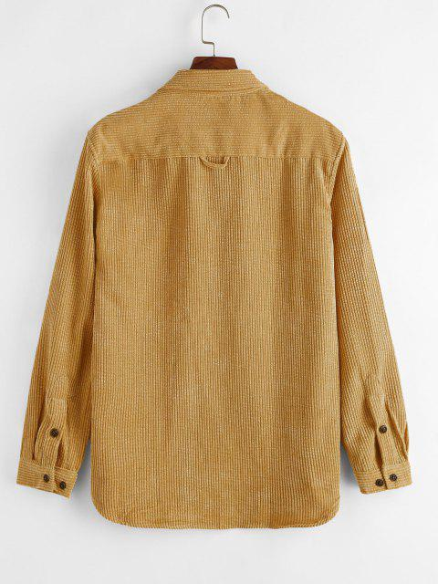 Camisa de Pana con Bolsillos Dobles - Caramelo 2XL Mobile