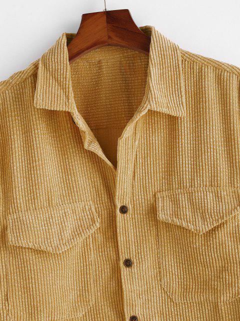 Camisa de Pana con Bolsillos Dobles - Caramelo 3XL Mobile