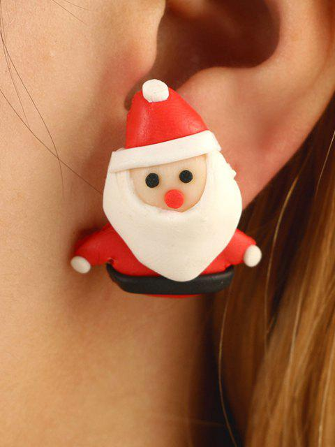 online Christmas Santa Claus Stud Earrings - LAVA RED  Mobile
