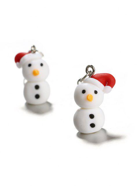 new Christmas Snowman Polymer Clay Earrings - SILVER  Mobile