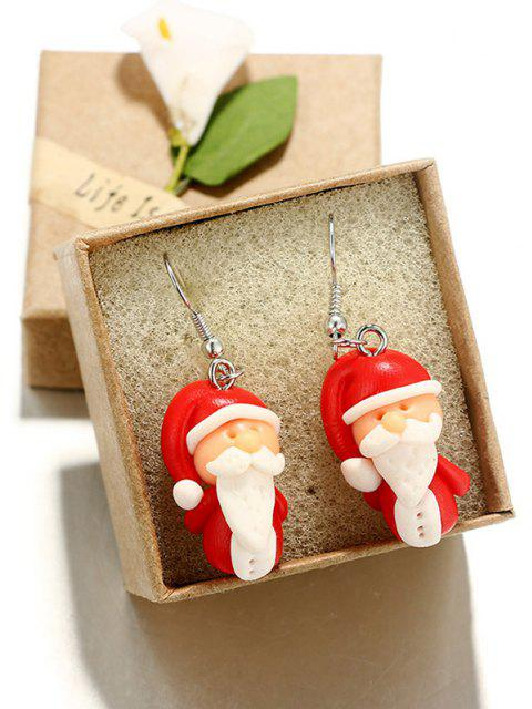 outfit Christmas Santa Claus Drop Earrings - RED WINE  Mobile