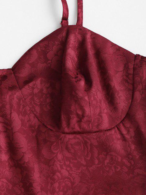 Vestito con Coppa Regolabili in Jacquard di ZAFUL - Profondo rosso S Mobile