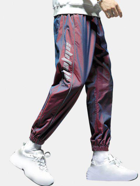 Buchstaben Druck Streifen Reflektierende Beam Füße Hose - Schamotte XS Mobile