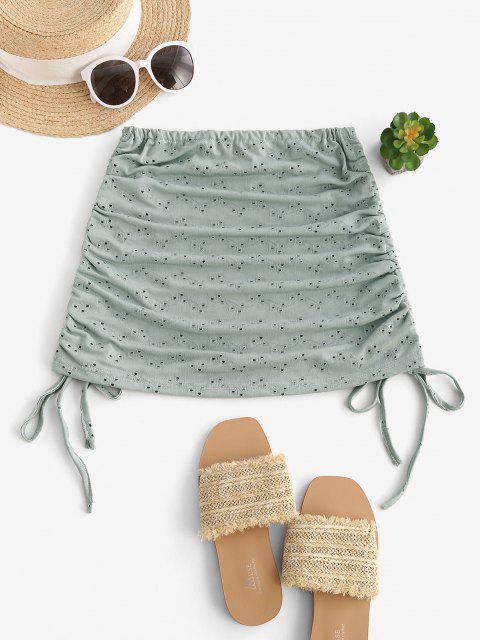 Geschnürte Öse Cover-Up Rock - Dunkles Meergrün Eine Größe Mobile