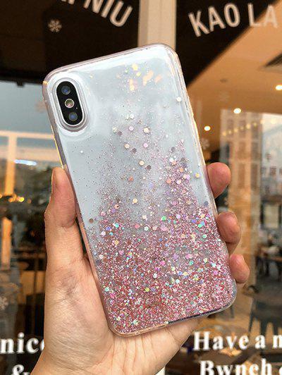 Glitter Transparente Caja Del Teléfono Para IPhone XS - Multicolor-a