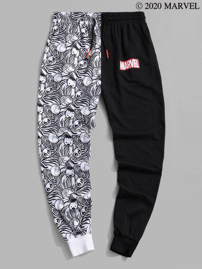 Marvel Spider-Man Cartoon Print Sweatpants - Black M