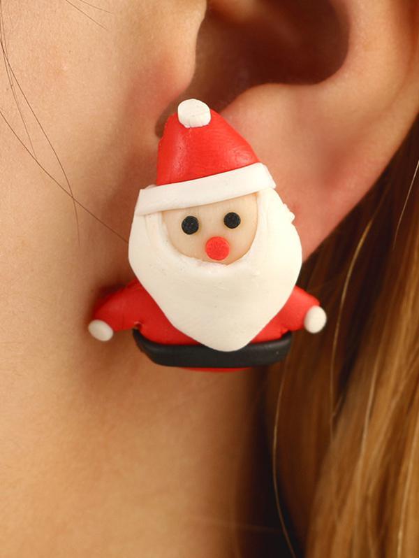 Christmas Santa Claus Stud Earrings