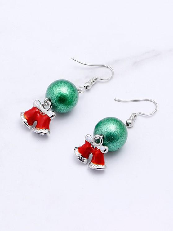 online Christmas Ball Bell Drop Earrings - LIGHT SEA GREEN