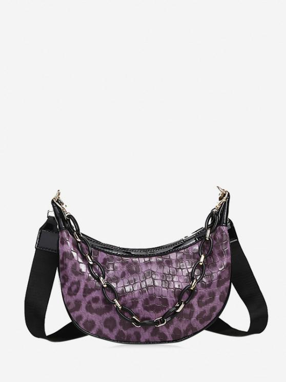 sale Leopard Printed Chain Crossbody Bag - PURPLE