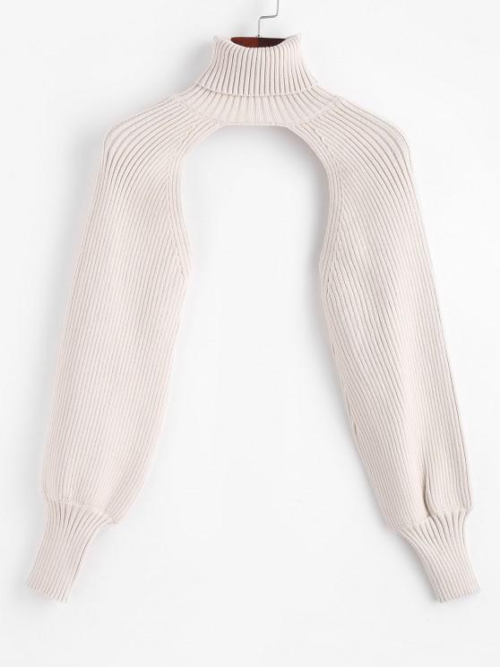 latest Turtleneck Shrug Sweater - LIGHT COFFEE ONE SIZE