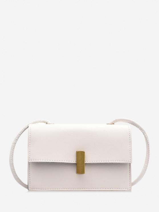 Bolsa Lateral Pequena Em Lona Com Zíper - Leite Branco