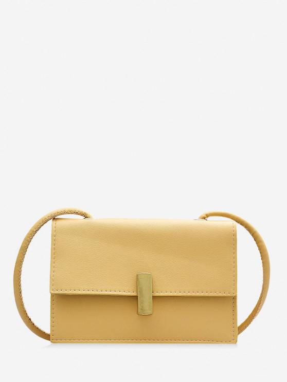 sale PU Square Small Crossbody Bag - SUN YELLOW