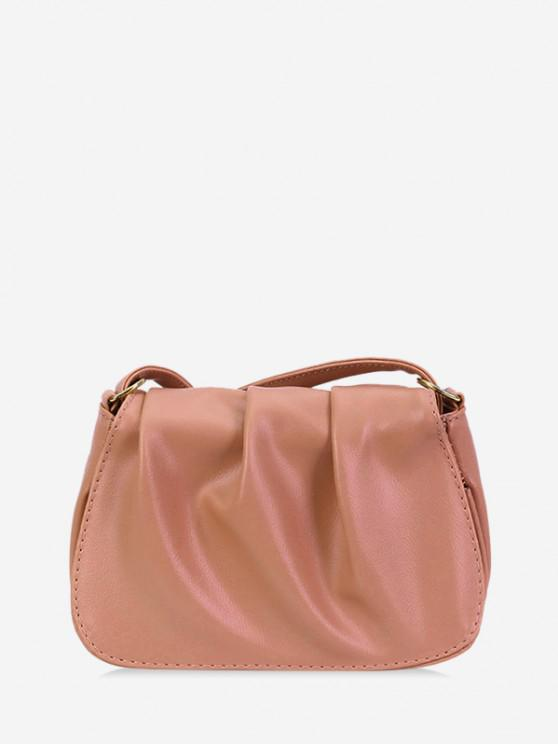 new Solid Pleated Shoulder Bag - PINK