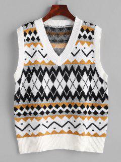 Geo Mix Sweater Vest - Multi