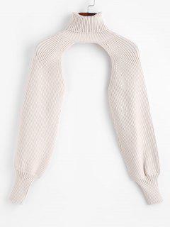 Turtleneck Shrug Sweater - Light Coffee