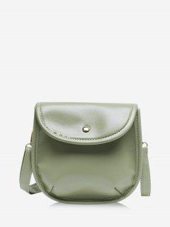 Solid Cover Crossbody Saddle Bag - Camouflage Green