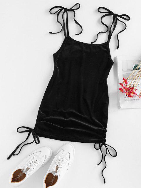 ZAFUL Mini Cami Kleid mit Krawattenschulter - Schwarz L Mobile