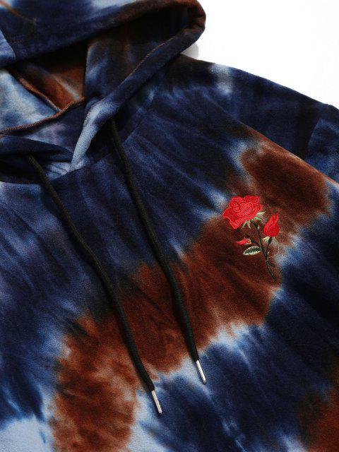 Sweat à Capuche Teinté Rose Brodée en Laine - Multi XL Mobile