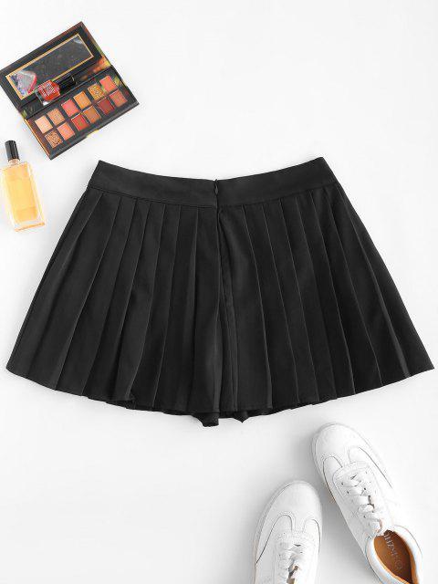 women's Pleated Mini Skorts - BLACK M Mobile