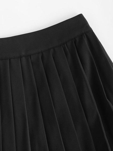 online Pleated Mini Skorts - BLACK S Mobile