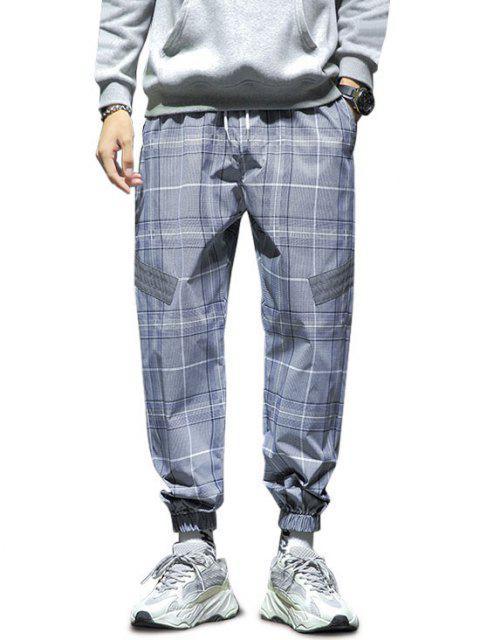 Pantalones Estampado Imitación Diamantes - Azul de Seda S Mobile