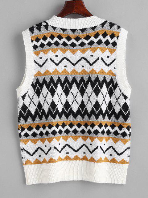Camisola gaze com retalhos - Multi Um Tamanho Mobile