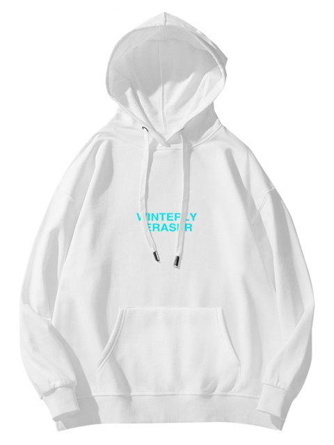 outfit Winterly Eraser Lightning Pattern Graphic Hoodie - WHITE 2XL Mobile