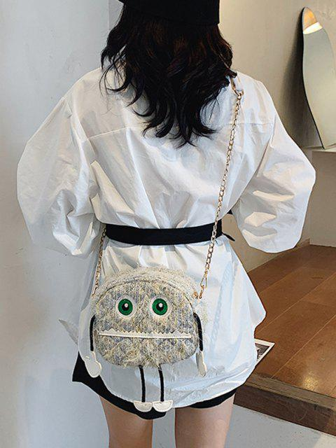 women Cartoon Robot Pattern Chain Crossbody Bag - SEA BLUE  Mobile