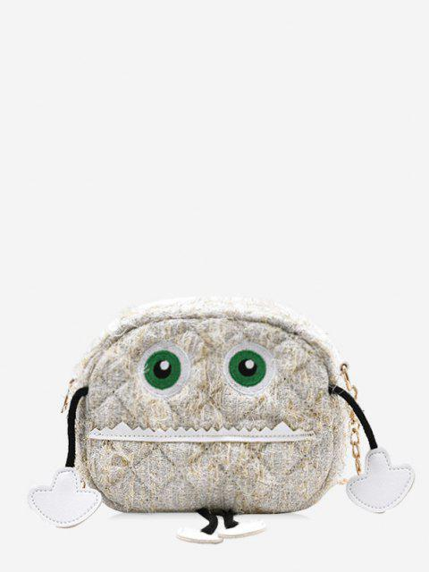 best Cartoon Robot Pattern Chain Crossbody Bag - BEIGE  Mobile
